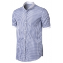 New Stylish Short Sleeve Slim Fit Men's Button Front Shirt