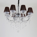 Metal Tapered Chandelier with Clear Crystal and 12