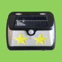 1/2/4 Pack Solar Security Light with Star Design Motion Sensor Wall Lights for Front Door