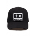 Hot Popular Simple Letter Embroidery Unisex Black Baseball Cap