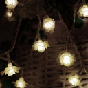 Flower String Lights 20ft 40 LED Fairy String Lights with Battery/USB in Multi Color/Warm for Patio