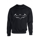 Cool 3D Logo Printed Casual Round Neck Long Sleeve Pullover Sweatshirt