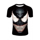 Popular 3D Printed Short Sleeve Black Casual T-Shirt