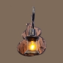 Lantern Dining Room Hanging Wall Sconce Single Light Vintage Sconce Light in Antique Brass