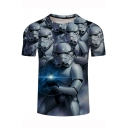 Star Wars Cool 3D Soldier Printed Short Sleeve Classic Fit T-Shirt