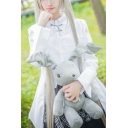 Yosuga no Sora Kasugano Sora Cosplay Costume Long Sleeve High Low Hem Shirt Mini A-Line Skirt Co-ords
