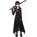 Cosplay Costume Stand Collar Black Cape Cloak