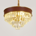 Dining Room Round/Oblong Chandelier Clear Crystal Modernism Decorative Pendant Lighting