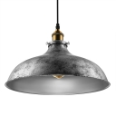 Gun Metal Grey 1 Pendant Light in Dome Shade for Restaurant Bar Kitchen