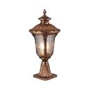 Antique LED Post Light Fixture Pack of 1 Waterproof Post Lantern for Balcony Garden