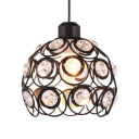 Modern Pendant Lighting for Bedroom, 1/3 Lights Dome Clear Crystal Pendant Lights with 39