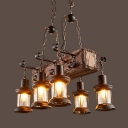 Bronze Lantern Island Pendant Lights with 39