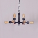 Open Bulb Kitchen Island Lamp Metal with 31.5