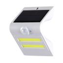 LED Solar Lights Driveway Dusk to Dawn Sensor and Motion Sensor Deck Light in Black/White