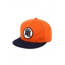 Cool Character Print Hip Hop Style Comic Orange Cap