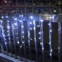 2-Pack Icicle LED String Lamp Decorative 11ft 96 Lights Water-Resistant Twinkle Lights for Garden