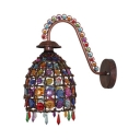 Dome/Globe/Cone Wall Sconce Foyer Single Light Antique Hanging Sconce Light in Multi Color