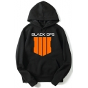 Call of Duty 4 Logo Letter BLACK OPS Printed Long Sleeve Leisure Pullover Hoodie