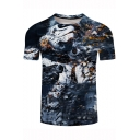 Star Wars Cool 3D Robot Soldier Pattern Short Sleeve Casual Classic Fit T-Shirt