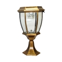 1/2 Pack Waterproof LED Post Lamp Black/Brass/Bronze Solar Powered Post Lantern in White for Courtyard Pathway