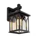 Wireless Waterproof Security Lighting Pack of 1 Glass Wall Sconce for Yard Pathway