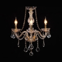 Clear/Gold Crystal Candle Chandelier with 19.5
