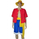 Halloween Cosplay Costume Short Sleeve Shirt Blue Shorts Set Co-ords