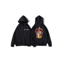 Harry Potter Fashion University Badge Printed Loose Fit Hoodie