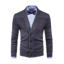 Men's Basic Simple Plain V-Neck Button Down Slim Fit Thin Casual Cardigan