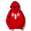 Cool 3D Spider Printed Long Sleeve Casual Pullover Hoodie
