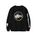Fashion Letter DON'T SMILE AT ME Unisex Round Neck Sweatshirt