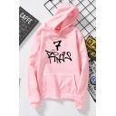 Popular 7 Rings Printed Relaxed Long Sleeve Pullover Hoodie