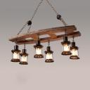 Industrial Drum Island Lamps 6 Lights Metal Island Light Fixtures with 19.5