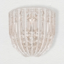 Clear Crystal Wall Lighting Fixture Single Light Vintage Style Sconce Light for Bedroom