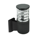 1-LED Cylindrical Security Lamp Wireless Waterproof Wall Lighting in Black/Bronze/Silver for Front Door