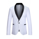 New Fashion Long Sleeve Shawl-Collar Single Button Mens Tuxedo Suit