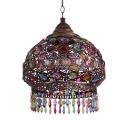Vintage Dome Pendant Lamp Metal Single Light Copper/Brass Suspended Light for Living Room
