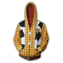 Toy Story New Fashion Comic Cosplay Costume Zip Up Long Sleeve Zip Up Yellow Hoodie