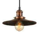 8.5/10 Inches Wide Antique Copper Single Light Saucer LED Hanging Indoor Pendant