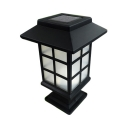 1/2 Pack Balcony Post Light Fixture Waterproof LED Solar Post Lamp in White/Warm