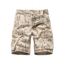Mens Hip Hop Style Allover Printed Cotton Casual Sport Cargo Shorts