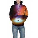 Universe Black Hole Cool 3D Printed Long Sleeve Unisex Relaxed Fit Hoodie