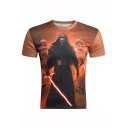 Cool 3D Figure Printed Short Sleeve Loose Casual T-Shirt