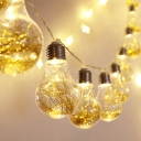 Pack of 2 Solar Bulb String Lights 30 LED 20ft Waterproof Fairy Lights in Warm/Multi-Color