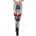 New Popular Quantum Battle Suit Cosplay Costume Elastic Waist Grey Skinny Fit Leggings