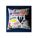 New Stylish Letter Graphic Print Cushion Pillow Slip 45*45