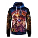 Cool 3D Film Figure Pattern Long Sleeve Sport Casual Drawstring Hoodie