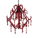 Clear Crystal Light Fixture 1 Light Modern Chandelier with 18