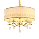 Polished Brass Round Chandelier with 53