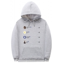 American Rapper Popular Letter Pattern Casual Loose Sport Hoodie